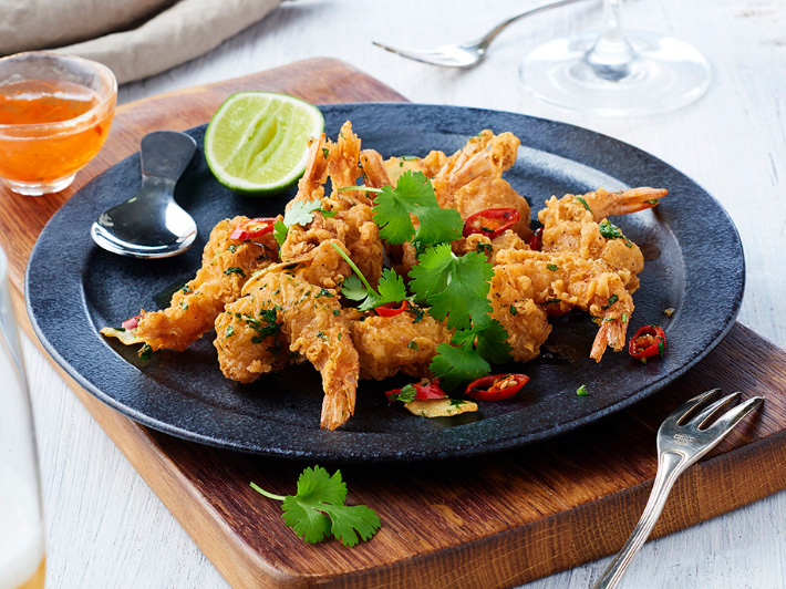 Double Crunch Salt and Pepper Prawns